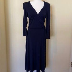 Dark blue wrap Boden dress